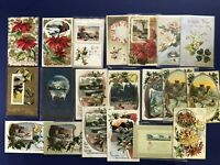 20 New Years Antique Postcards. Embossed. 1900s. Nice for Collectors w Value.