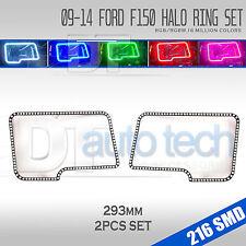 09-14 F-150 Bluetooth Multi-Color Angel Eyes LED RGB Headlight Halo Ring Set
