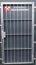 Gittertür Feuerverzinkt Einbruchschutz - Modell Raster