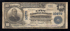 Sylacauga, Alabama, Charter #10879, Series1902, $10.00 Plain Back, 10 Large Note