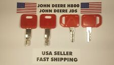 (4) John Deere Keys (2) of each Key Heavy  Ignition Excavator JDS JD  Ship Fast.