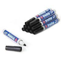 10 Marker felt marker pen black erasable Whiteboard for Office S1R4