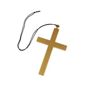 Nuns Cross Ladies Fancy Dress Accessory Preist Nun Gold Cross
