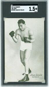 Joe Louis 1947 - 66 Exhibits SGC 1.5 Detroit, Name in Italics HOF World Champion