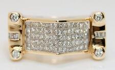 "Heavy Men's 14K Yellow Gold Custom Made ""Cadillac"" 1.75 Ct Diamond Ring 10.25"