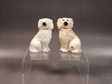 PAIR STAFFORDSHIRE Dogs Spaniel Figurines Small 1800's Antique 19th Century