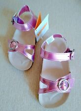 Sandals Shoes Toddler Kids Girls Metallic Pink  Gymboree w/Cork Footbed Sz 8/NWT