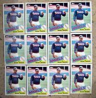 1985 - Topps #200 - Reggie Jackson Angels HOF - 12ct Card Lot