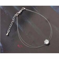 Friendship Bracelet Charm Non Allergic Transparent Thin Chain Crystal Gift Bag