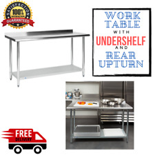 """New ListingCommercial 24"""" x 60"""" Stainless Steel Work Prep Table With Backsplash Kitchen Nsf"""