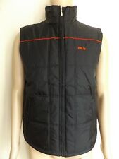 "MEN`S FILA BODYWARMER GILET SLEEVELESS JACKET COAT SIZE SMALL 38"" AUTHENTIC BNWT"