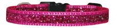 "cerise pink sparkle small   dog/pup collar 8""-12"" 1/2"""