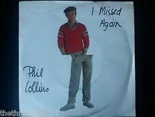 "VINYL 7"" SINGLE - I MISSED YOU AGAIN - PHIL COLLINS - VS402"