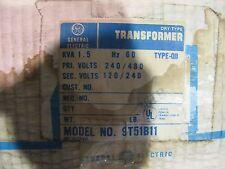 GE 9T51B11, 1.5 KVA, 1 Phase, 240/480 X 120/240 Volt, Transfomer- NEW- T834