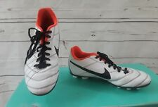 Nike Youth Size 5Y Tiempo 5 VG White Black Orange Cleats Athletic Shoes