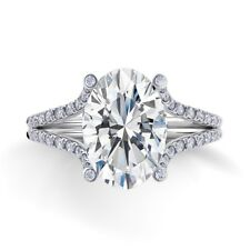 Diamond Engagement Ring GIA Certified Oval & Round Shape 3.00 Carat Platinum