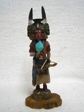 Hopi Native American Kachina Doll Full Figure Badger by Marlon Huma