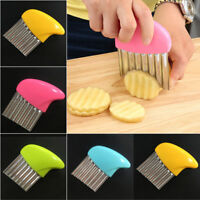 French Fries Cutter Wave Potato Slicer Kitchen Gadget Cucumber Vegetable Tool