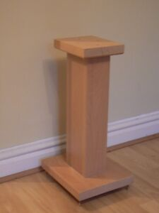 Solid Maple Wood speaker stands RC60 Deluxe, Custom Audio Visual Furniture