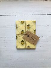 Beeswax Food Wraps. Large. Set of 3 30 x 30cm. Bee print 🐝