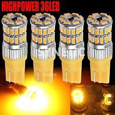 4x T10/168/921/194 RV Trailer Interior 12V 3014 Chip Amber 36LED Car Light Bulbs
