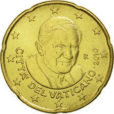 [#463086] VATICAN CITY, 20 Euro Cent, 2010, MS(65-70), Brass, KM:386
