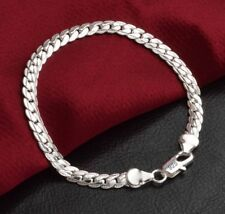 Edles Design 925 Sterling Silber Armband Armkette Panzerkette Hochglanz Neu