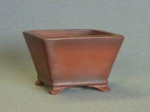 Tokoname Bonsai Pot Handmade Bigei Square Brown TOKONAME 96*96*64mm T1034