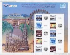 UNO WIEN - 2008 GRUSSMARKEN BOGEN WIPA 550-54 ANK 551-55 - S 26 **