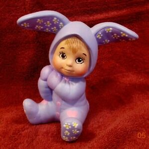 Easter Bunny Sweet Tot Ceramic Hand Painted Figurine Holiday Decor