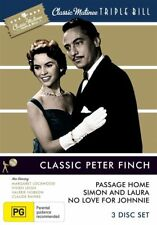 Classic Peter Finch: Passage Home, Simon and Laura, No Love for Johnnie. NEW R4