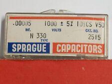Electronics - Sprague: Capacitors .00005mf