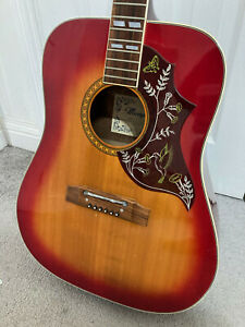 Vintage Memphis Hummingbird Acoustic Guitar Model No. 1550 made in Japan