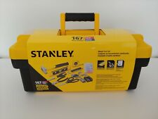 STANLEY 167 Piece Mixed Tool Set Home Starter Tool Box Kit Hammer Tape Measure