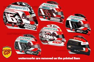 Charles Leclerc Ferrari F1 Helmet Stickers / Display Print - Scuderia GP