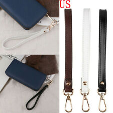 Genuine Leather Wristlet KeyChain Buckle Strap for Wallet Bag Key Phone Case 8""