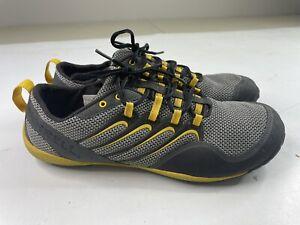 Merrell Men's Sz 12 Barefoot Trail Glove Shoes - Smoke/Adventure Yellow Vibram