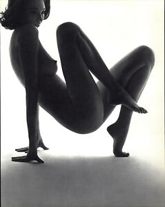 1960s 1966 John Rawlings Balance Female Nude Model Art Photo Photogravure 16x20