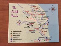 Mint Map Postcard of The Norfolk Broads, Norfolk by Tony's Postcards