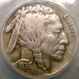 1936 D BUFFALO INDIAN HEAD NICKEL 3 1/2 LEG VERY RARE ERROR FS-901 ANACS VG 10 D
