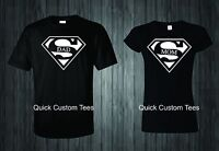 MOM AND DAD T-SHIRTS SUPERMAN LOGO COUPLES DESIGN CUTE NICE COOL NEW MATCH