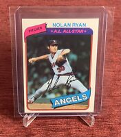 1980 Topps NOLAN RYAN #580 California Angels HOF🔥