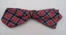 Vintage Ormond Plaid Clip On Bow Tie New York City Rockabilly Hipster Style Fun