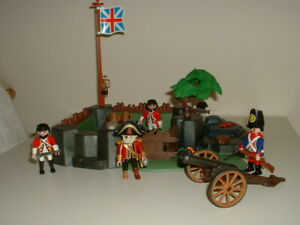 Playmobil Castle Fort - English Fort with Soldiers & Cannon.