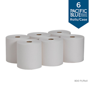 Recycled Paper Towel Roll 800 feet per Roll 6 Rolls per Case Absorbent