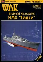 "GENUINE PAPER-CARD MODEL KIT - HMS ""Lance"""