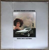 1977 Matra Simca Bagheera original French sales brochure