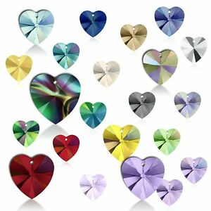 10mm (Choose Colour) Wholesale Swarovski Pendant Heart 6228 Crystal Rhinestone