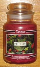 Yankee Candle - MULBERRY - 22 oz - Black Band - RARE AND VERY HARD TO FIND!!