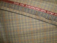 "4.38 yd Crossville WOOL FABRIC Australian Super 100s 8.5 oz Suiting 156"" BTP"